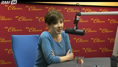 Na zsjęciu Agnieszka Piskałą w trakcie wywiadu w RMF Classic